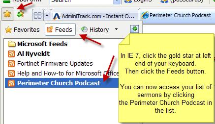 Tips on Downloading Perimeter Church Sermons as MP3