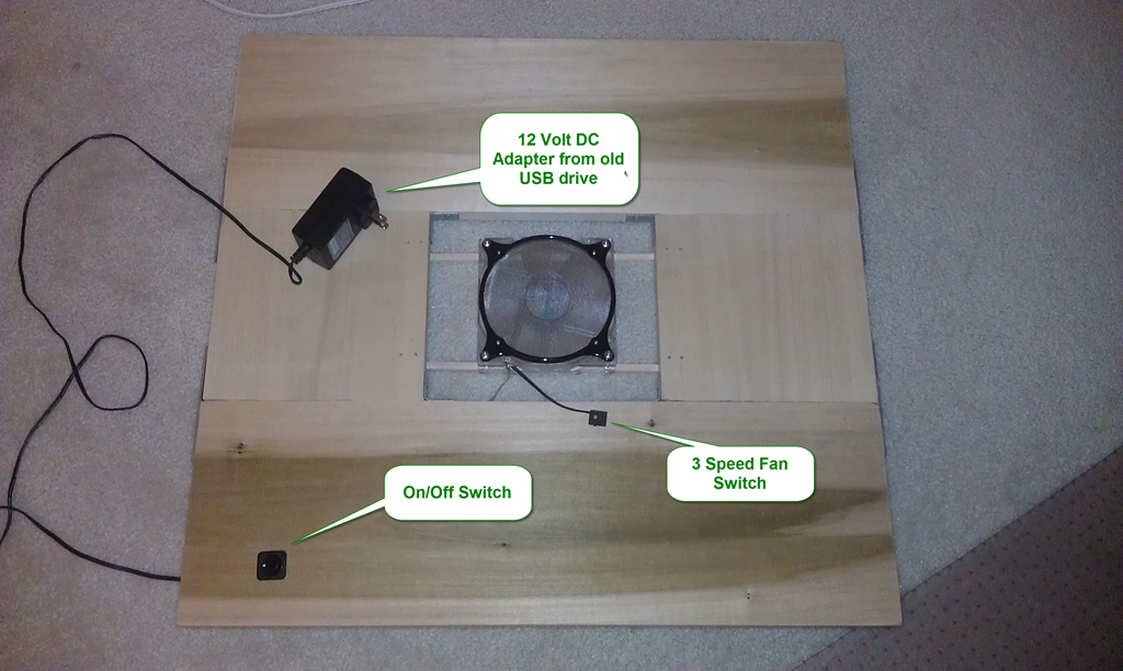 A Custom Laptop Cooler for Docked Laptop | DonDraper com